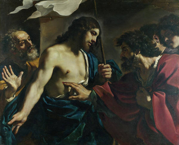 Redeemer Wall Art - Painting - The Incredulity Of Saint Thomas by Guercino