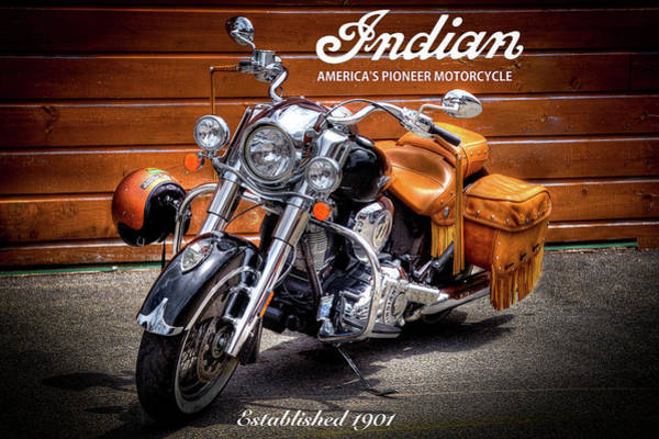 David Patterson Photograph - The Indian Motorcycle by David Patterson