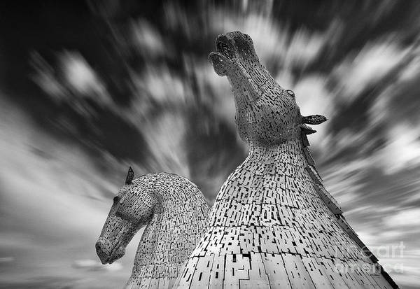 Wall Art - Photograph - The Kelpies At Falkirk by Janet Burdon