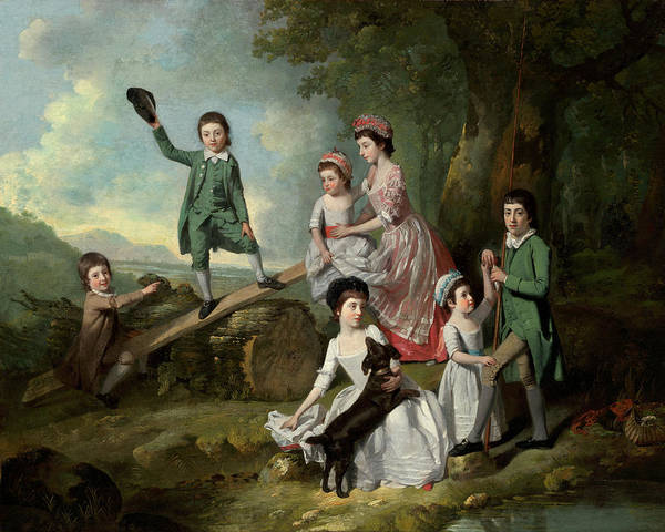 Painting - The Lavie Children by Johann Zoffany