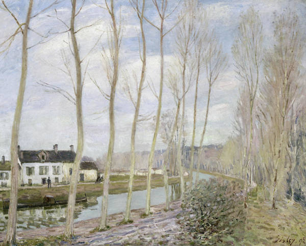 Wall Art - Painting - The Loing's Canal by Alfred Sisley