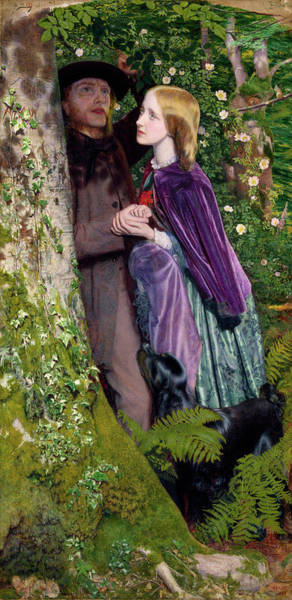 Engagement Wall Art - Painting - The Long Engagement by Arthur Hughes