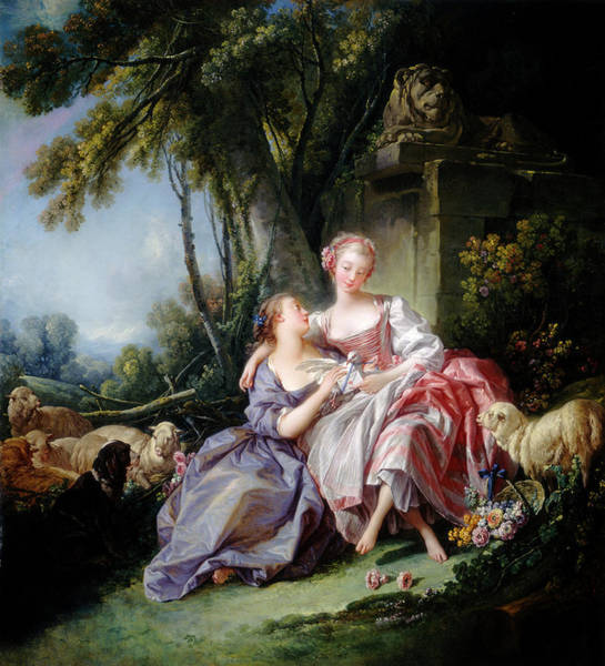 Painting - The Love Letter by Francois Boucher