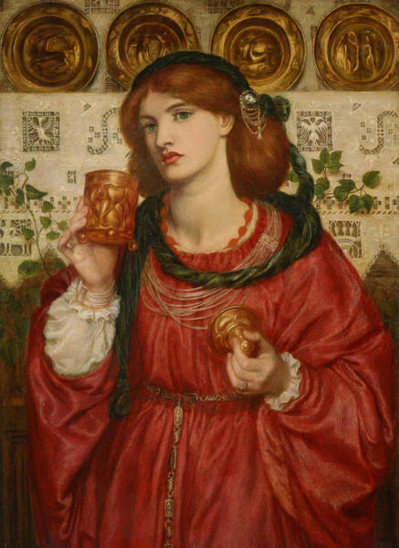 Pre-raphaelite Brotherhood Painting - The Loving Cup by Dante Gabriel Rossetti