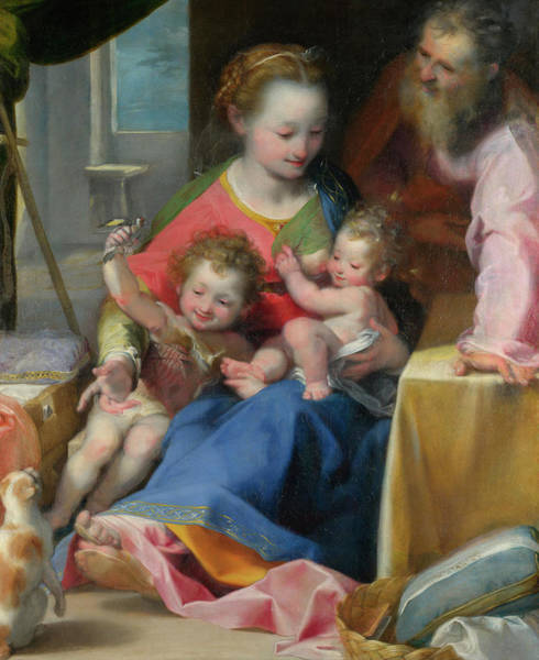 Adolescent Painting - The Madonna Of The Cat by Federico Barocci