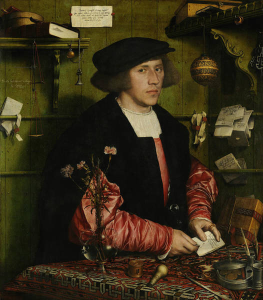 Wall Art - Painting - The Merchant Georg Gisze by Hans Holbein the Younger