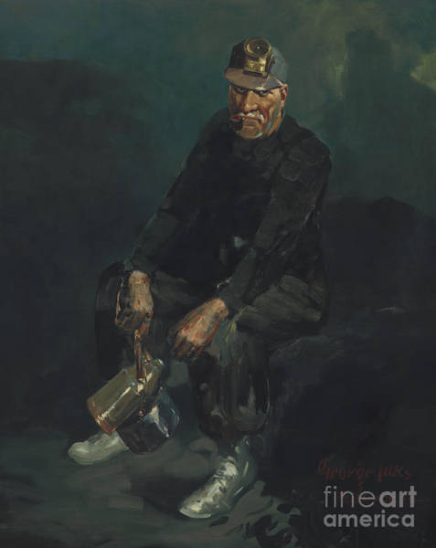 Grimy Wall Art - Painting - The Miner by George Benjamin Luks