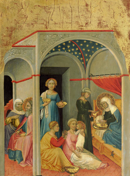 Painting - The Nativity Of The Virgin by Andrea Di Bartolo