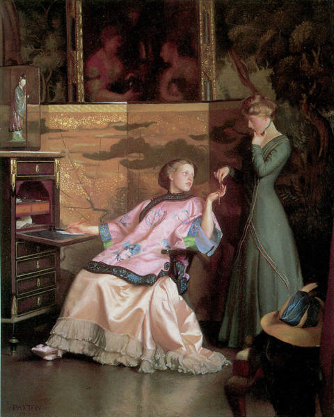 Photograph - The New Necklace by William Mcgregor Paxton