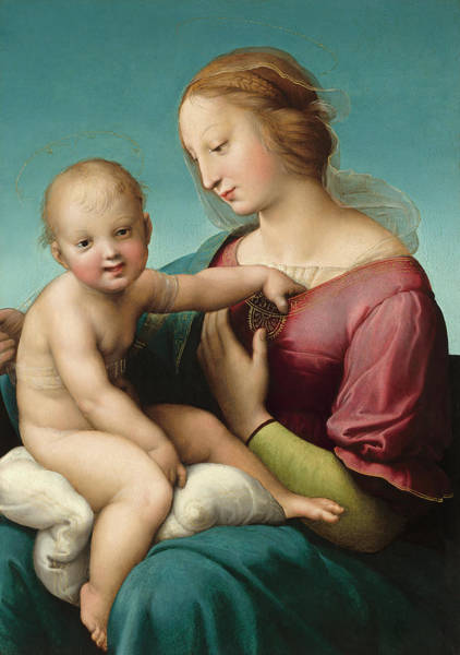 Painting - The Niccolini-cowper Madonna by Raphael