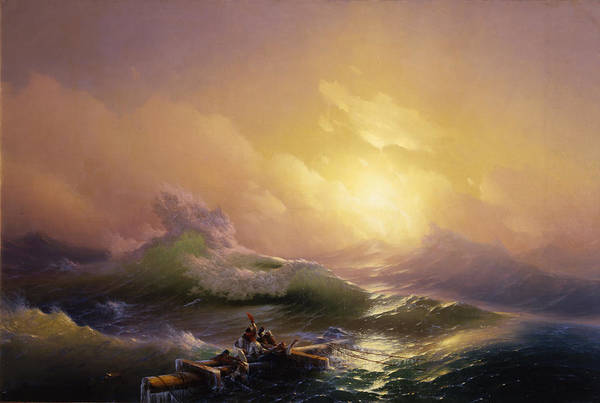 Russian Painting - The Ninth Wave by Ivan Aivazovsky