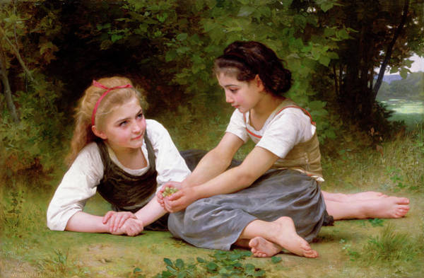 Matter Painting - The Nut Gatherers by William-Adolphe Bouguereau