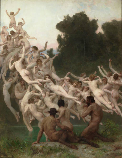 Artemis Wall Art - Painting - The Oreads by William-Adolphe Bouguereau