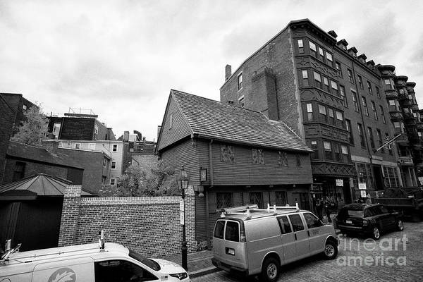 Wall Art - Photograph - the paul revere house on the freedom trail Boston USA by Joe Fox