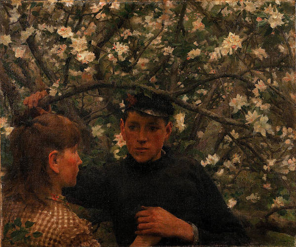 Painting - The Promise by Henry Scott Tuke