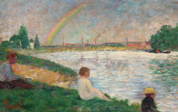Waterway Painting - The Rainbow by Georges Seurat