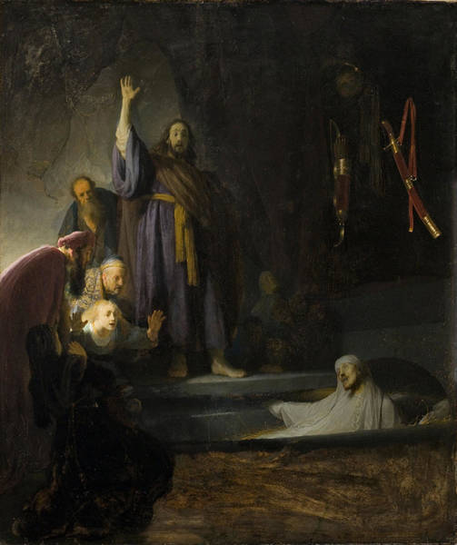 Follow Me Painting - The Raising Of Lazarus by Rembrandt
