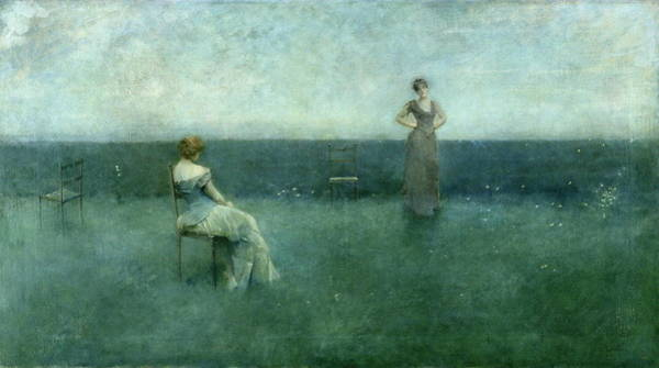 Wall Art - Painting - The Recitation by Thomas Wilmer Dewing