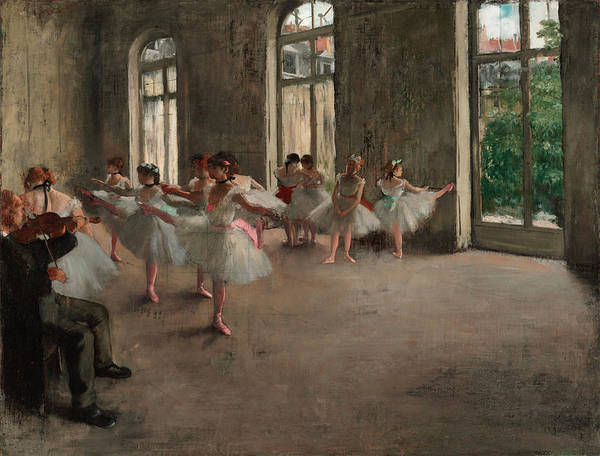 The Dance Painting - The Rehearsal by Edgar Degas