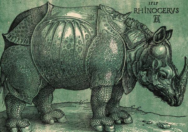 Rhino Painting - The Rhinoceros by Albrecht Durer