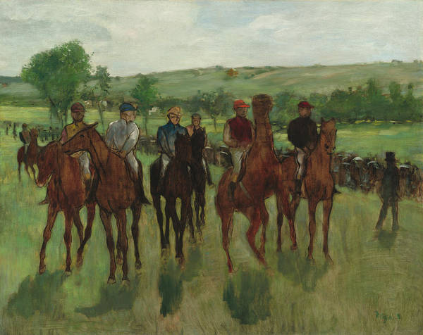 Painting - The Riders by Edgar Degas