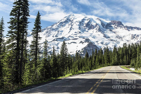 Photograph - The Road To Mt Rainier In Washington State, Usa by Didier Marti