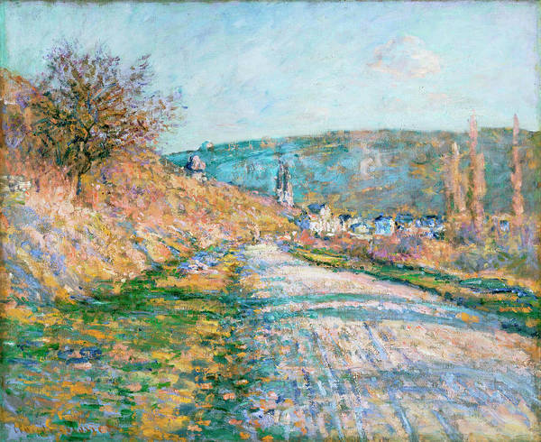 Mother Road Wall Art - Painting - The Road To Vetheuil by Claude Monet