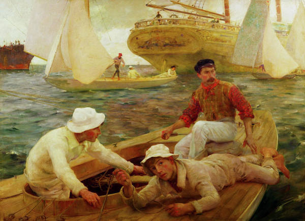 Painting - The Run Home by Henry Scott Tuke