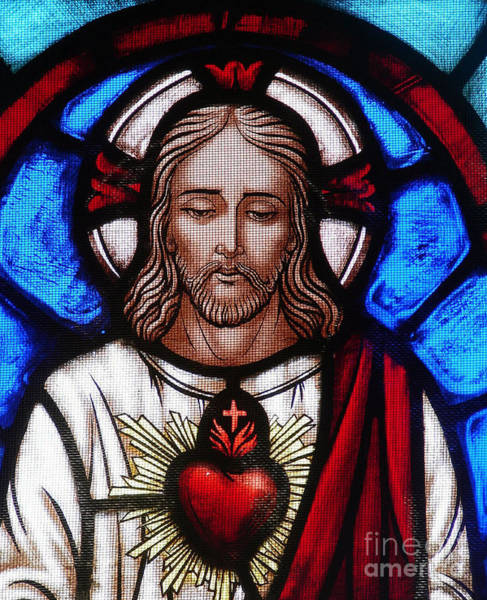 Church Of Jesus Christ Photograph - The Sacred Heart Of Jesus by French School