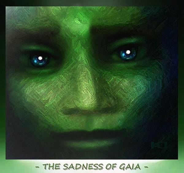 Digital Art - The  Sadness Of Gaia by Hartmut Jager