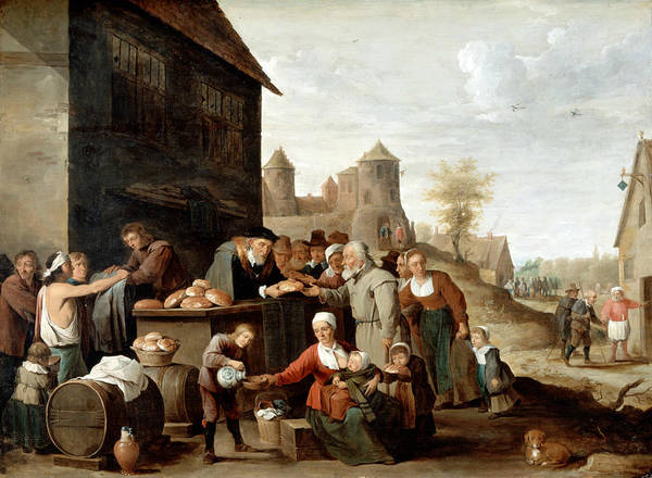 Mercy Wall Art - Painting - The Seven Corporal Works Of Mercy by David Teniers the Younger