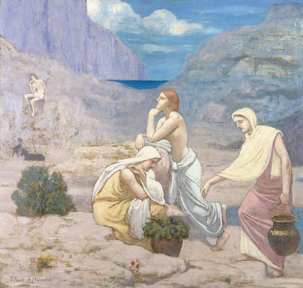 Painting - The Shepherd's Song by Pierre Puvis de Chavannes