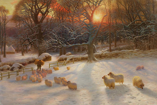 Rural Wall Art - Painting - The Shortening Winters Day Is Near A Close by Joseph Farquharson