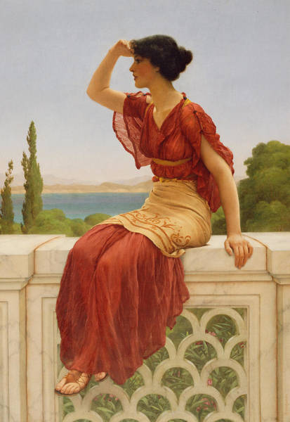 Watch Out Wall Art - Painting - The Signal by John William Godward