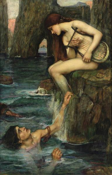 Wall Art - Painting - The Siren by John William Waterhouse