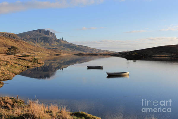 Photograph - The Storr Reflecting In Loch Fada by Maria Gaellman