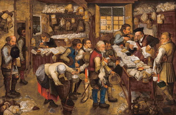 Payment Painting - The Tax Collectors Office  by Pieter Brueghel The Younger