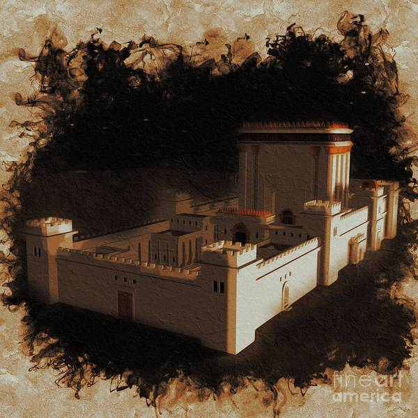 Wall Art - Painting - The Temple Of Solomon by Pierre Blanchard