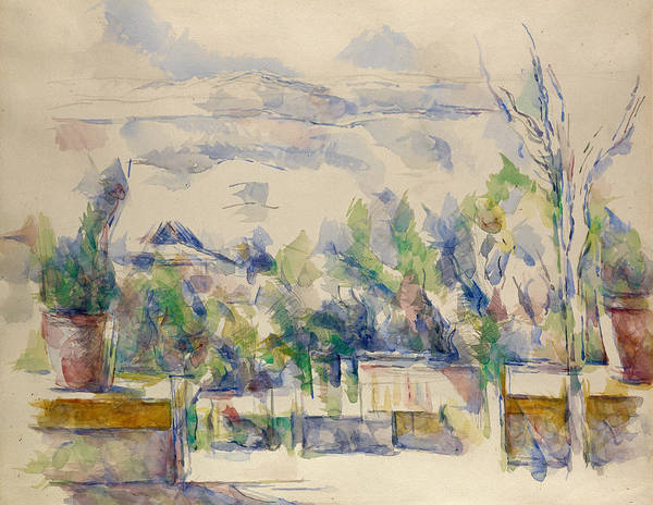 Painting - The Terrace At The Garden At Les Lauves  by Paul Cezanne