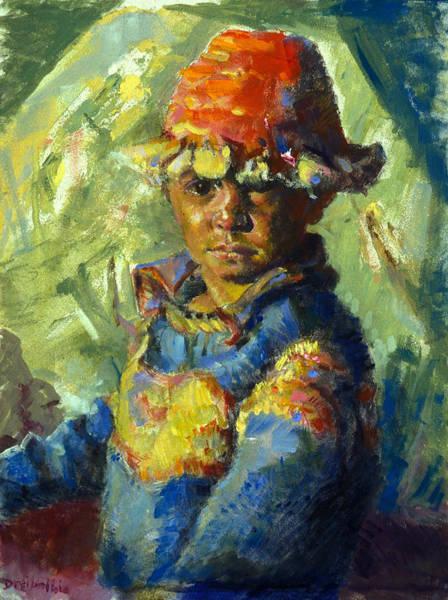 Painting - The Tibetan Boy by Ellen Dreibelbis
