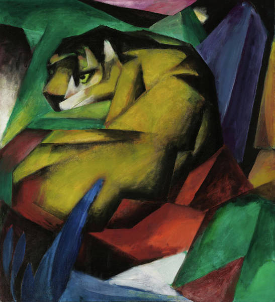 The Blue Rider Wall Art - Relief - The Tiger  by Franz Marc