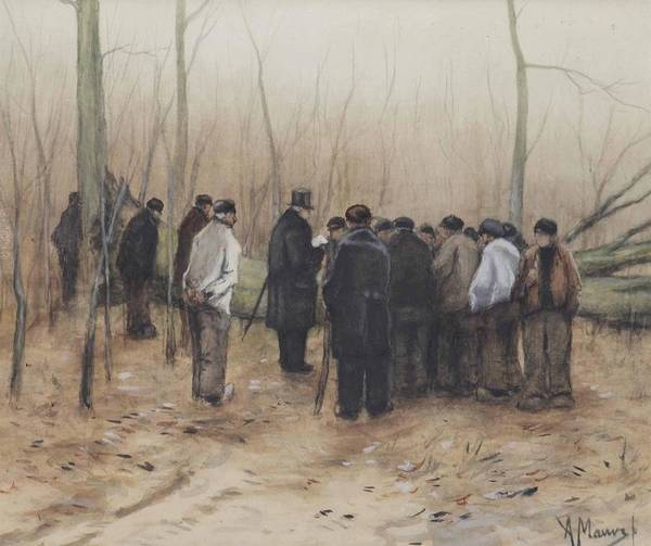 Wall Art - Painting - The Timber Sale by Anton Mauve