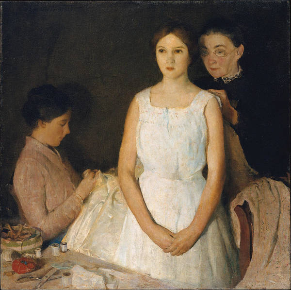 Bridesmaids Painting - The Trousseau by Charles Webster Hawthorne