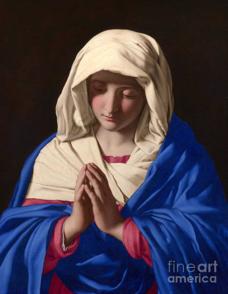 Wall Art - Painting - The Virgin In Prayer by Il Sassoferrato