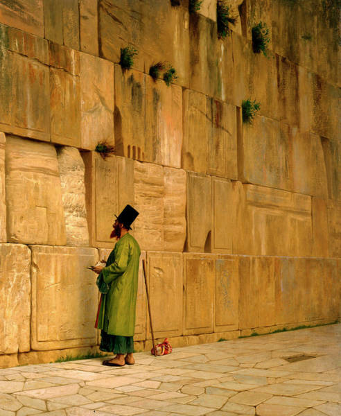 Hebrew Painting - The Wailing Wall by Jean-Leon Gerome
