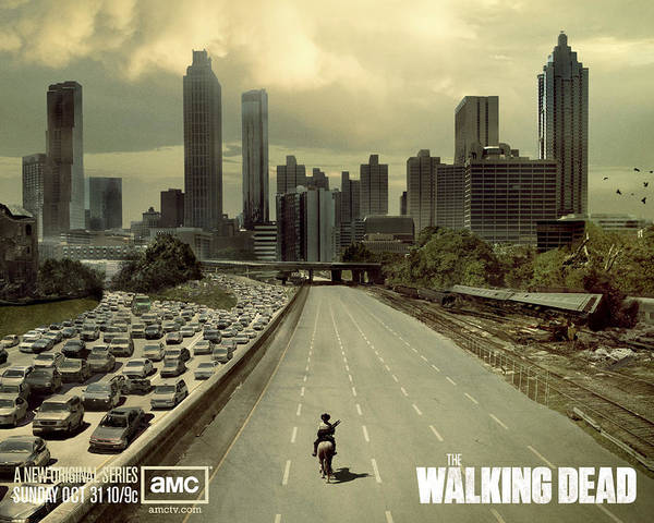 Wall Art - Digital Art - The Walking Dead by Lissa Barone