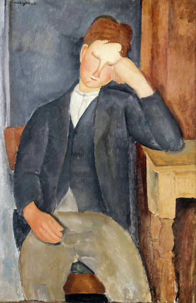 Painting - The Young Apprentice by Amedeo Modigliani