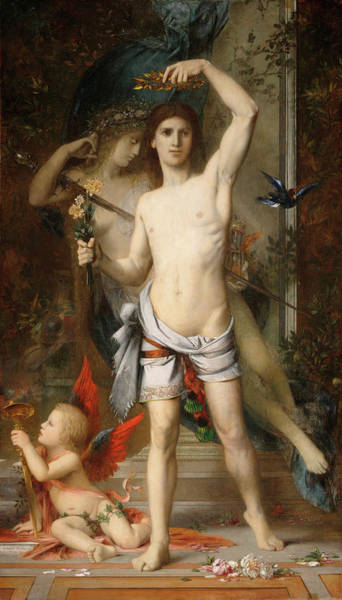 Wall Art - Painting - The Young Man And Death by Gustave Moreau