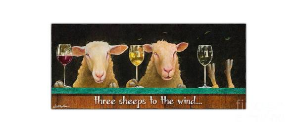 Painting - Three Sheeps To The Wind... by Will Bullas