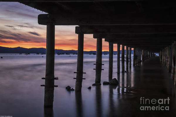 Under The Pier Photograph - Timber Cove by Mitch Shindelbower